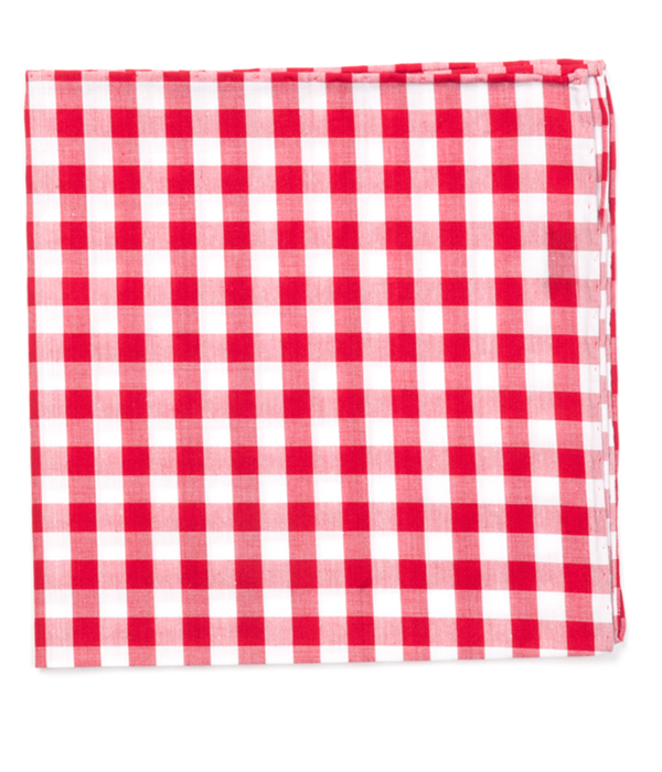 Classic Gingham Red Pocket Square