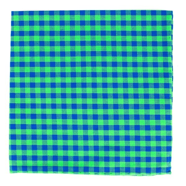Gingham Shade Apple Green Pocket Square