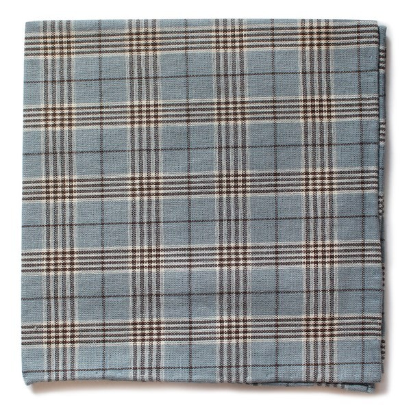 Newton Plaid Powder Blue Pocket Square