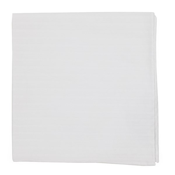 South Bay Stripe White Pocket Square