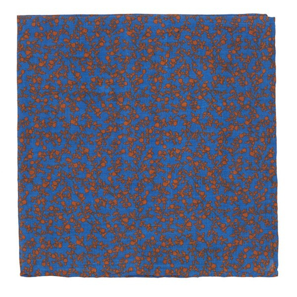 Floral Webb Serene Blue Pocket Square