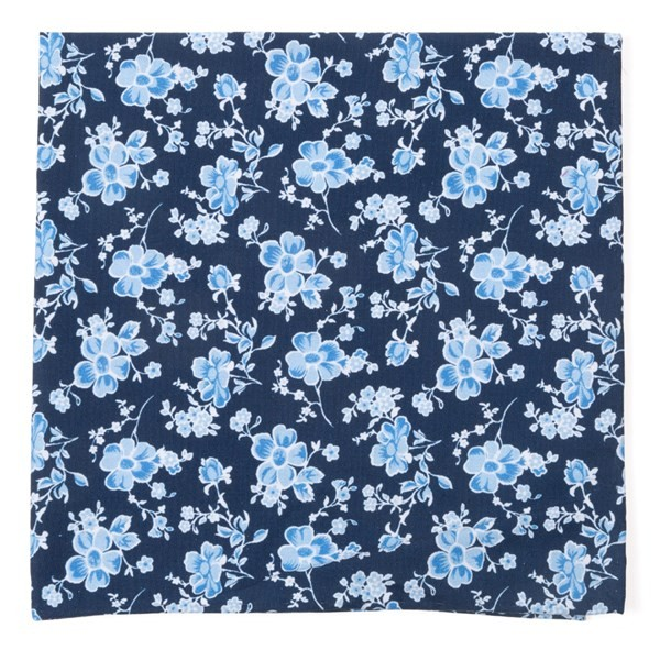 Walnut Street Floral Navy Pocket Square