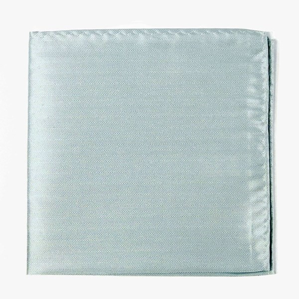 Mumu Weddings - Desert Solid Icy Blue Pocket Square