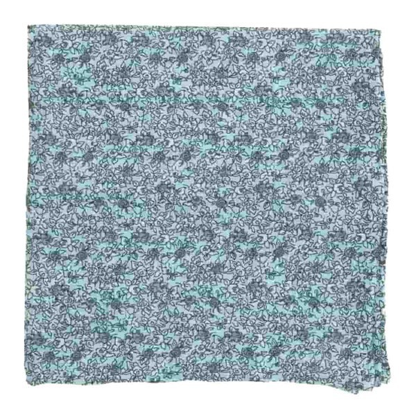 Wild Rosa Light Blue Pocket Square