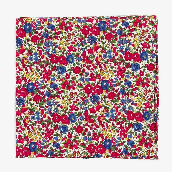 Liberty Emma And Georgina Red Pocket Square