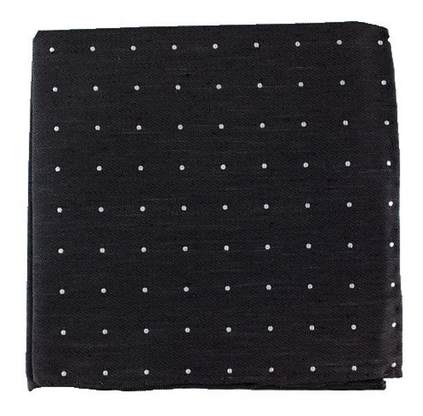 Bulletin Dot Black Pocket Square