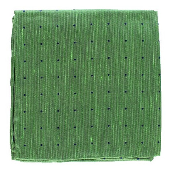 Bulletin Dot Kelly Green Pocket Square