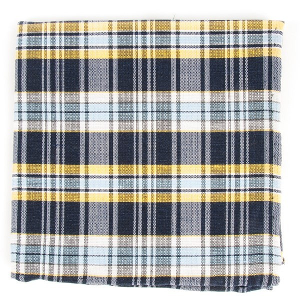 Rnr Plaid Classic Navy Pocket Square