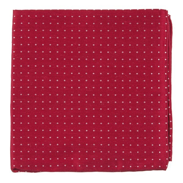 Rivington Dots Apple Red Pocket Square