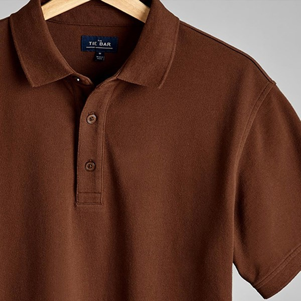 Pique Brown Polo