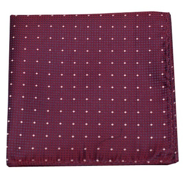 Showtime Geo Burgundy Pocket Square