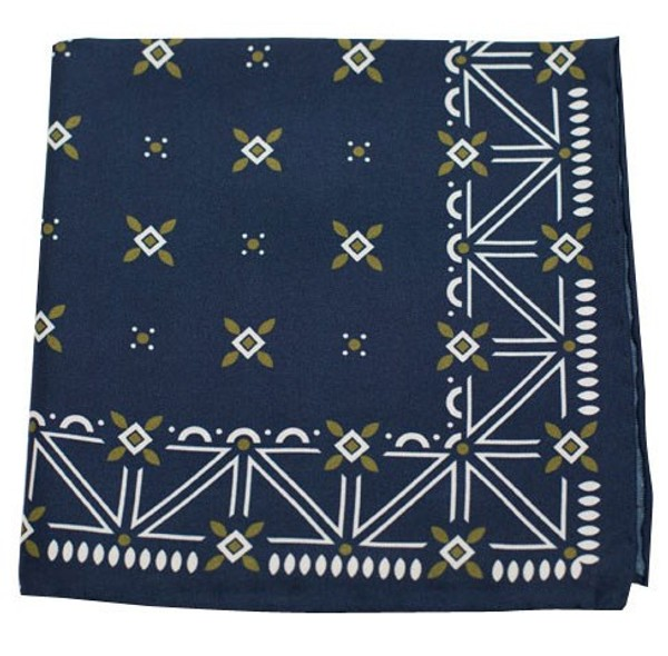 Albuquerque Print Navy Pocket Square