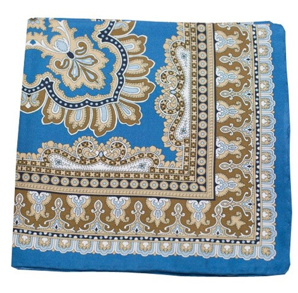 Persian Manor Cornflower Blue Pocket Square
