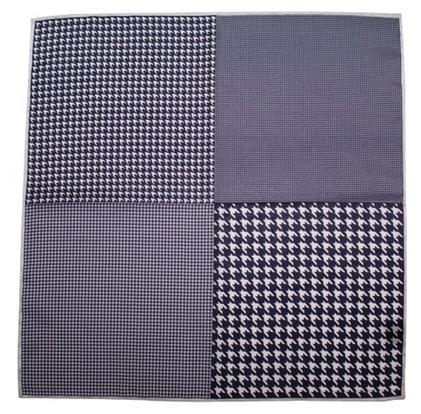 Houndstooth Panel Deep Purple Pocket Square