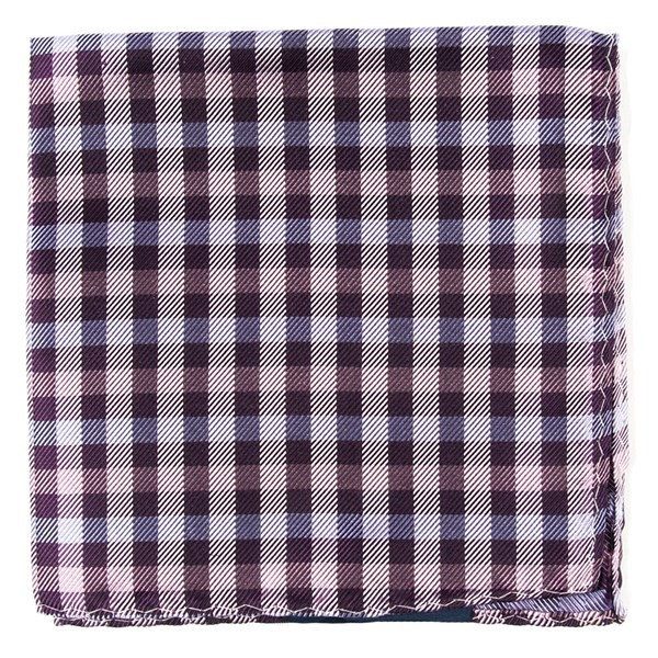Polo Plaid Plum Pocket Square