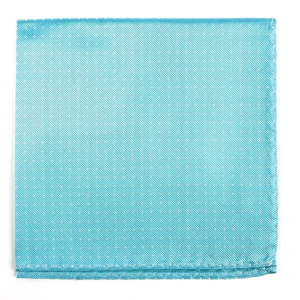 Mini Dots Pool Blue Pocket Square