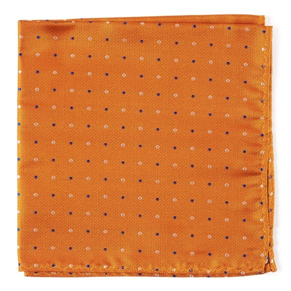 Jpl Dots Orange Pocket Square