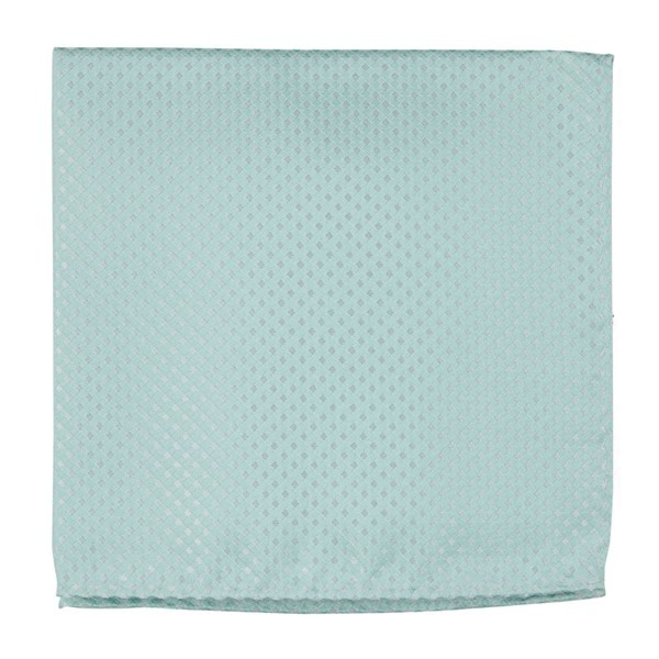 Be Married Checks Spearmint Pocket Square