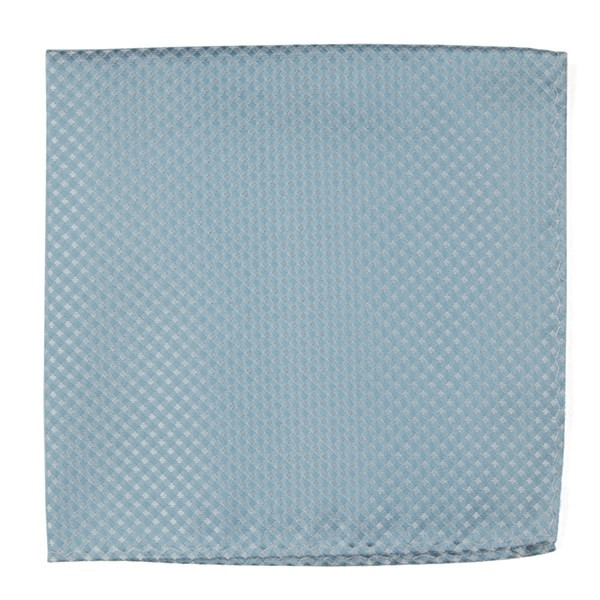 Be Married Checks Robins Egg Pocket Square