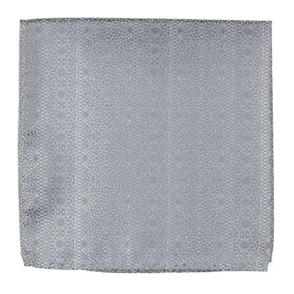 Wedded Lace Grey Pocket Square