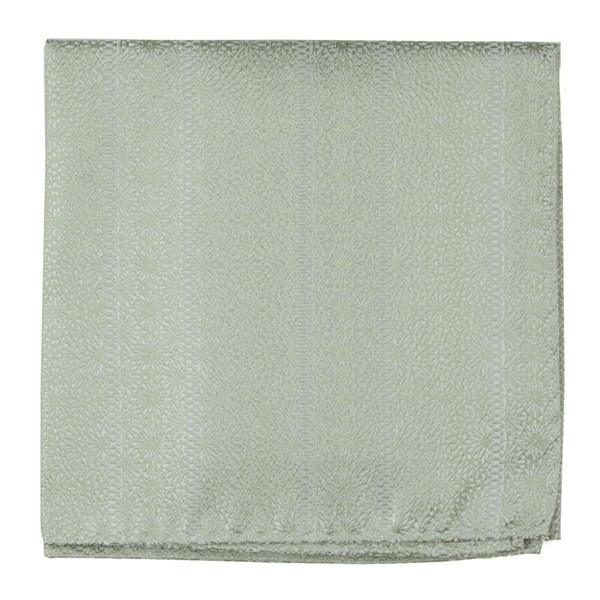 Wedded Lace Sage Green Pocket Square