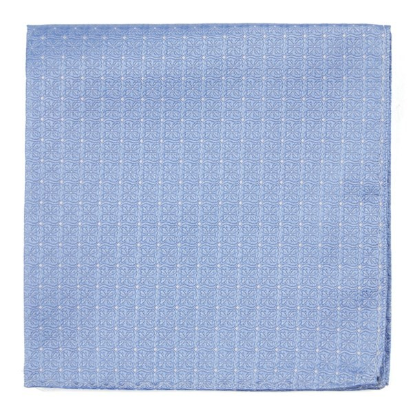 Medallion Lane Light Blue Pocket Square