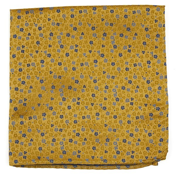 Flower Fields Yellow Pocket Square
