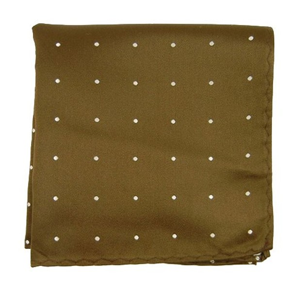 Satin Dot Chocolate Pocket Square