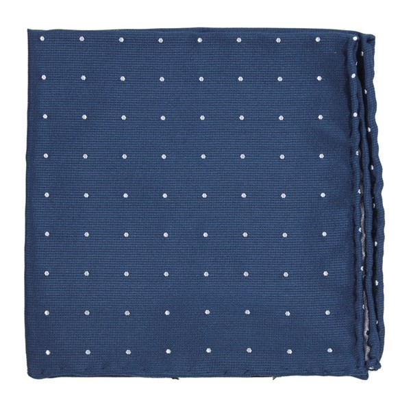 Dotted Report Serene Blue Pocket Square