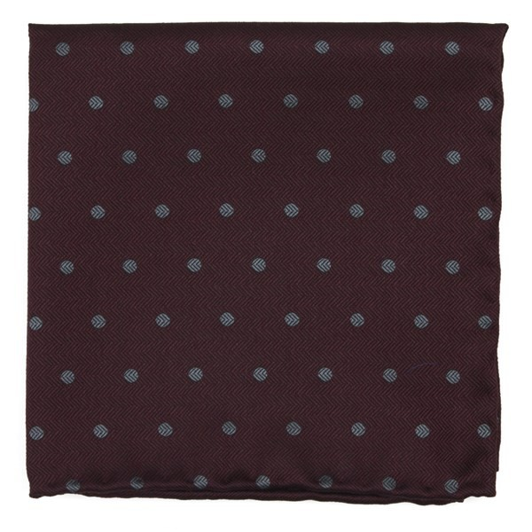 Dotted Hitch Burgundy Pocket Square