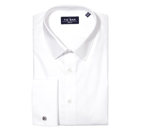 Pinpoint Solid - French Cuff White Non-Iron Dress Shirt