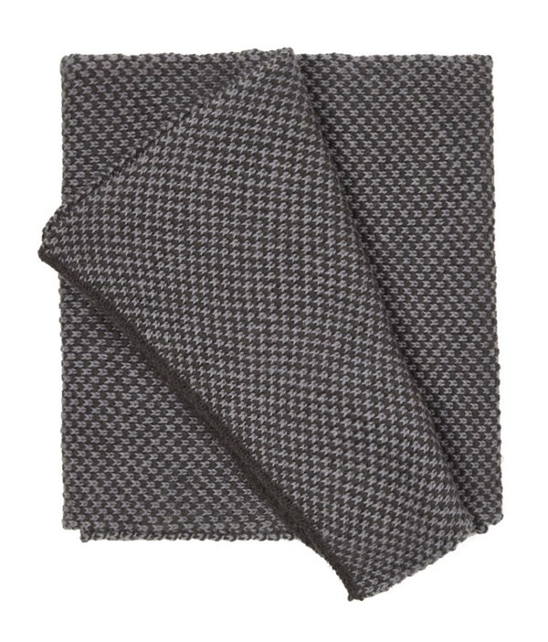 Second City Knit Charcoal Scarf