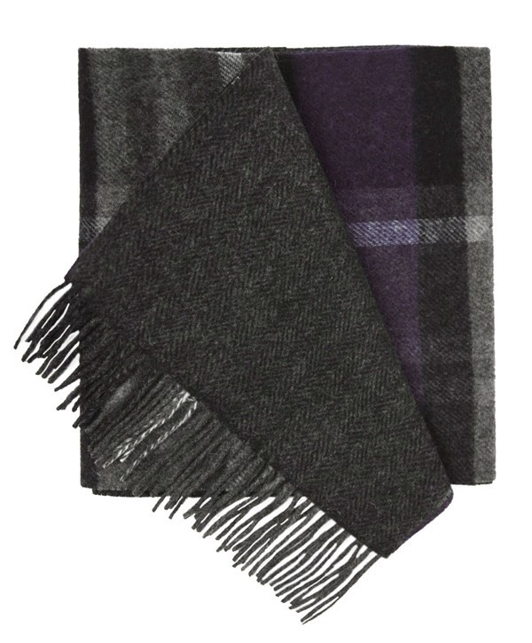 Bridgeport Plaid Plum Scarf