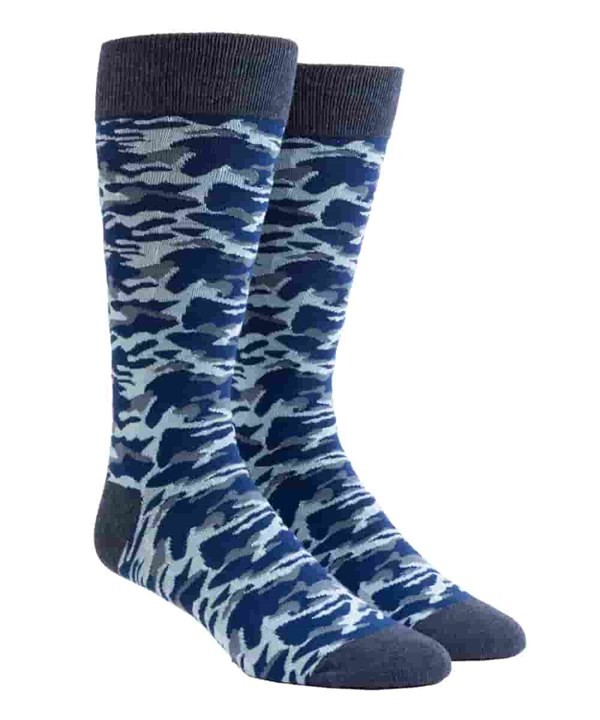 Covert Camo Navy Dress Socks