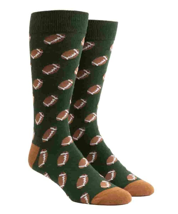 Fall Football Hunter Green Dress Socks