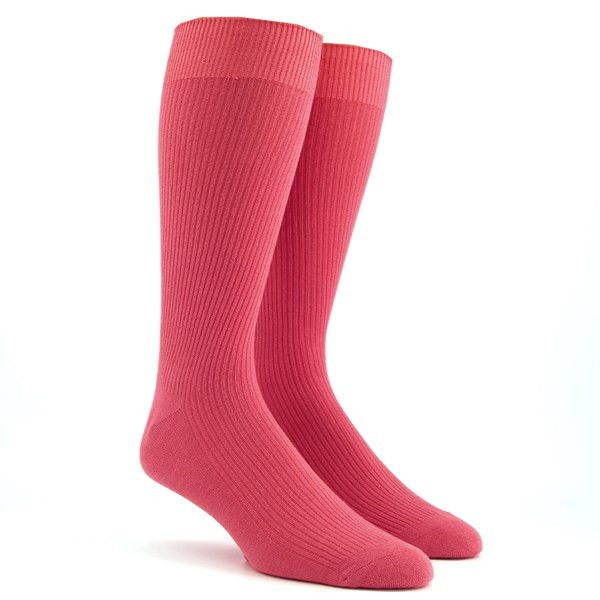 Ribbed Dusty Rose Dress Socks