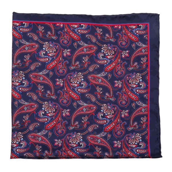 Paisley Ascot Navy Scarf