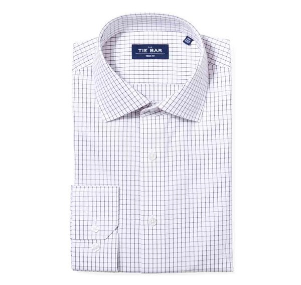 Classic Check Burgundy Non-Iron Dress Shirt