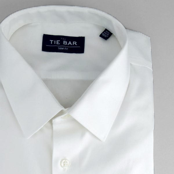 Pinpoint Solid - Point Collar White Non-Iron Dress Shirt