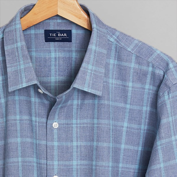 Multicolored Check Blues Casual Shirt