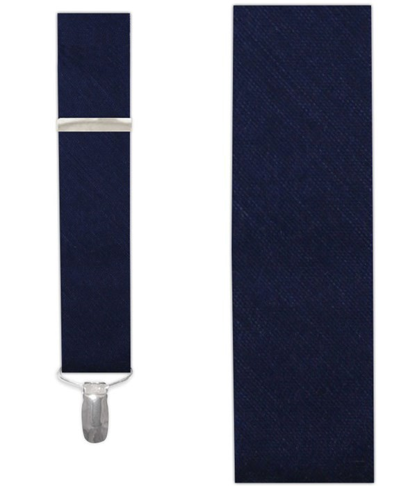 Sand Wash Solid Navy Suspender