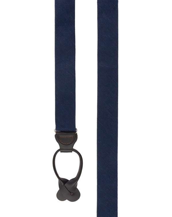 Festival Textured Solid Navy Suspender