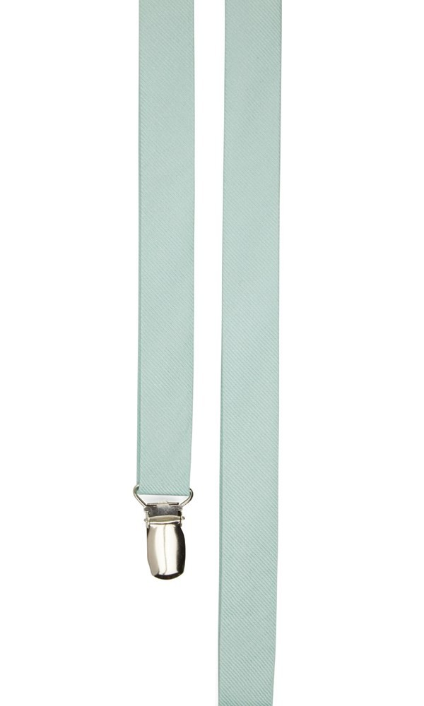 Grosgrain Solid Spearmint Suspender