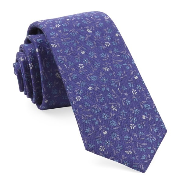 Floral Acres Purple Tie