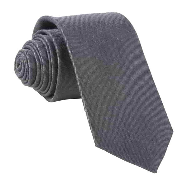 Sand Wash Solid Charcoal Tie