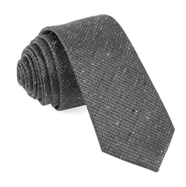 Five Star Solid Grey Tie