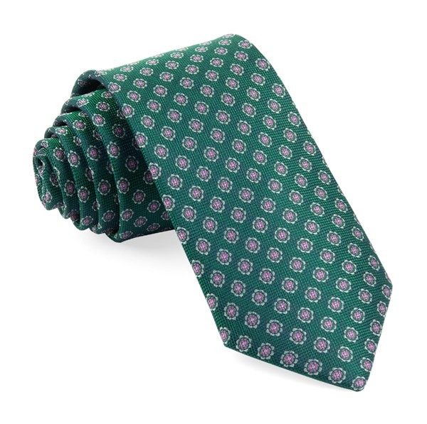Medallion Cruise Emerald Green Tie