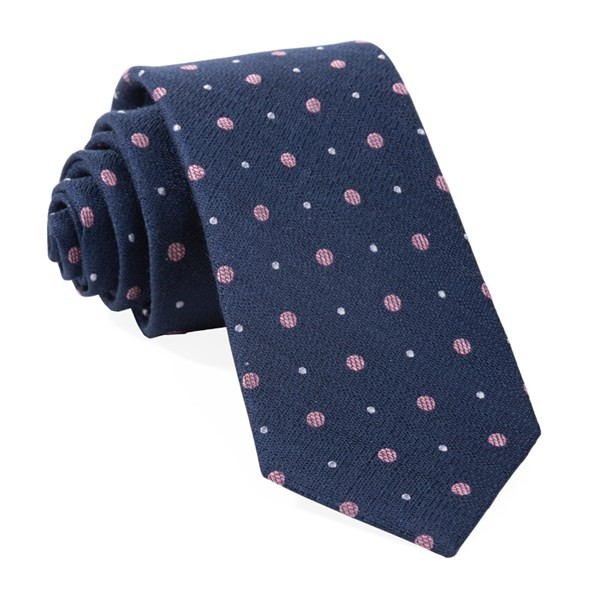 Lighthouse Dots Navy Tie