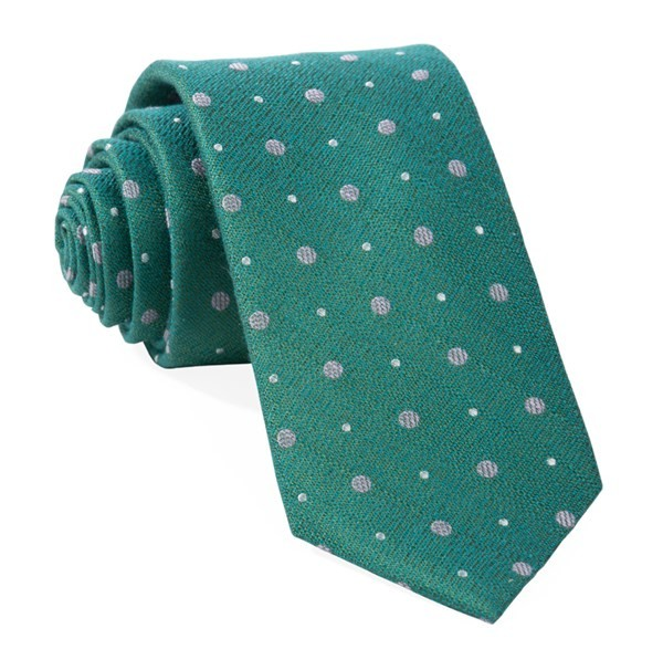 Lighthouse Dots Green Teal Tie