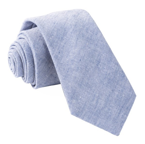 Solid Breeze Blue Tie